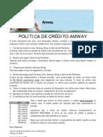 Politica de Credito da AMWAY