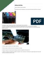 Quitar Aire Del Sistema Continuo de Tinta