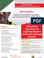 Afiche IV Curso Supervisor en Seguridad Industrial y PRevencion de Riesgos Laborales