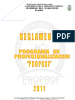 REGLAMENTO PROPROF 2011