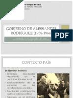 Gobierno de Alessandri rodríguez (1958-1964)