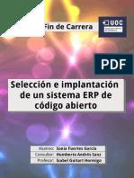 Selección e implantación ERP código abierto
