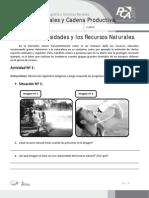 Ficha 8, Nuestras Necesidades y Los Recursos Naturales