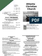 July 28, 2013 Church Bulletin