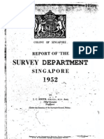 Annual Report of the Survey Department Singapore 1952