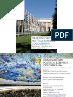 Observatorio Política Exterior Colombiana. Boletín N°6. Issn