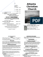 August 25, 2013 Church Bulletin