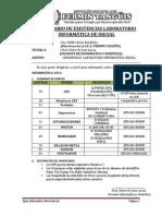 INVENTARIO DE EXISTENCIAS LABORATORIO INFORMÁTICA DE INICIAL