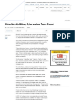 China Sets Up Military Cyberwarfare Team_ Report _ Defense News _ Defensenews