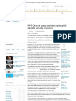 RPT-China's Space Activities Raising US Satellite Security Concerns _ Reuters