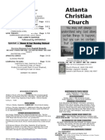 September 1, 2013 Church Bulletin