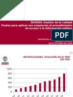 Bureau Veritas. ISO 9001 para el acceso a la información pública