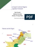 Pakistan Export Controls Regime- Nazir Hussain