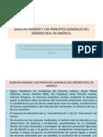 Derecho Indiano y Los Principios Generales Del Senorio