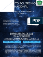 Expo Transformaciones de Lorentz (Power Point)
