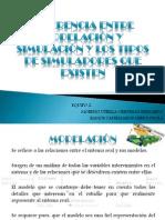 DIFERENCIA ENTRE MODELACIÓN Y SIMULACIÓN Y LOS TIPOS DE SIMULADORES