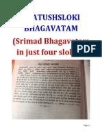 CHATUSHSLOKI BHAGAVATAM