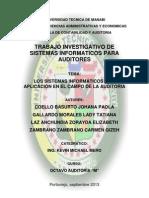 Los Sistemas Informaticos y Su Aplicacion en El Campo de La Auditoria