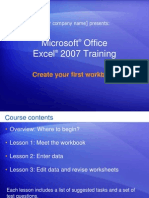 Microsoft® Office Excel