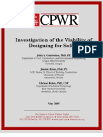 Investigation of the Viability of Designing for Safety