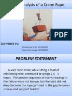 Failur Analysis of Crane Rope