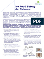 Food Safety Statement June 2012