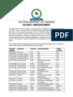 Vacancy_2!9!2013 the Open University of Tanzania.