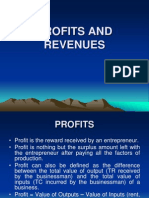 PROFITS, REVENUES