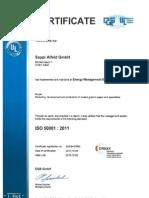 ISO 50001 Alfeld Valid Until 2015-10-03 - English