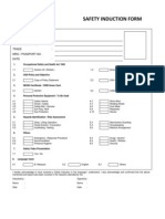 Safety Induction Application Form