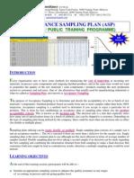 5.Acceptance Sampling Plan CourseOutline