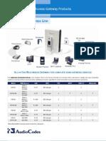 Residential Gateways Line Datasheet