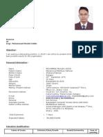 CV of Engr. Muhammad Musleh Uddin
