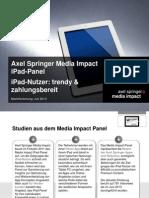 Media Impact Panel - iPad-Nutzer - Trendy Und Zahlungsbereit