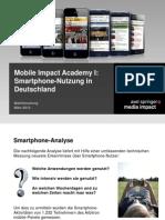 Mobile Impact Academy I Smartphone-Nutzung in Deutschland