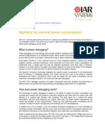 Optimize for Minimal Power Consumption