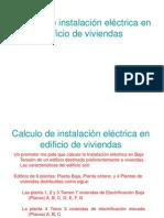Ejemplo Calculo de instalación eléctrica en edificio de viviendas 25-11