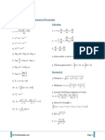 SPM Additional Mathematical Formulae PDF