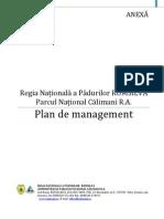 Parcul Naţional Călimani Plan de management
