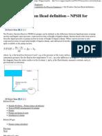 Net Positive Suction Head definition – NPSH for pumps _ Enggcyclopedia