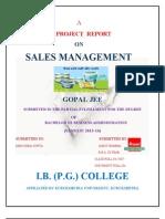 62330899-Amul- Sales Management ANKIT