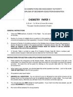 HKDSE Chemistry 2014 Paper1A