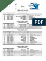Tabela de Jogos - Nupec 2013