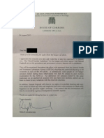 Letter From Phillip Hammond Re Badger Cull