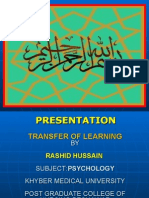 Transfer of Learning RASHID