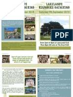 Rounders Leaflet .  List of Events
