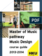 MMus-MD Course Guide 2013-2014