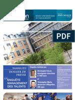 Dossier de Presse Enquete Rh Iae Lyon Management Talents 1354721025328