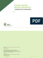 Mapa Procesos y Arquitectura Componentes. Software Fuentes Abiertas Administración Electrónica.