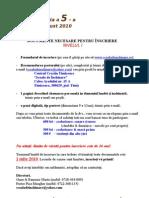 Documente Necesare Pentru Inscriere 2010